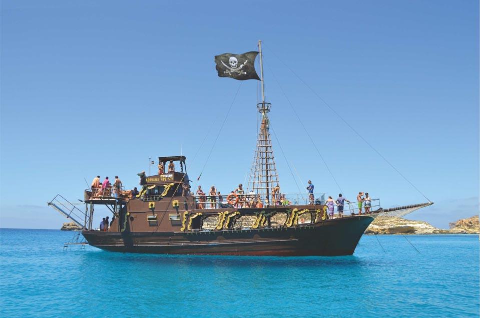 Galeone Adriana a Lampedusa