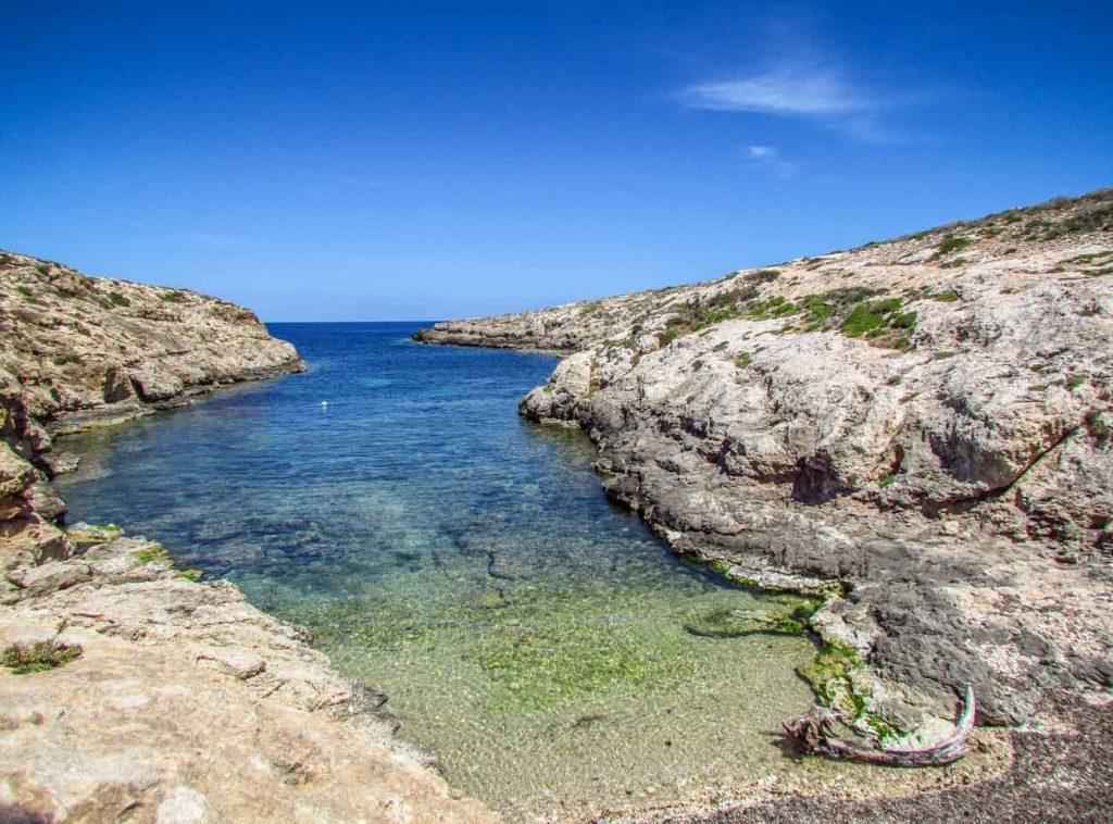 Cala Uccello a Lampedusa