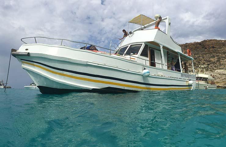 Barca Nino Paranzoto a Lampedusa