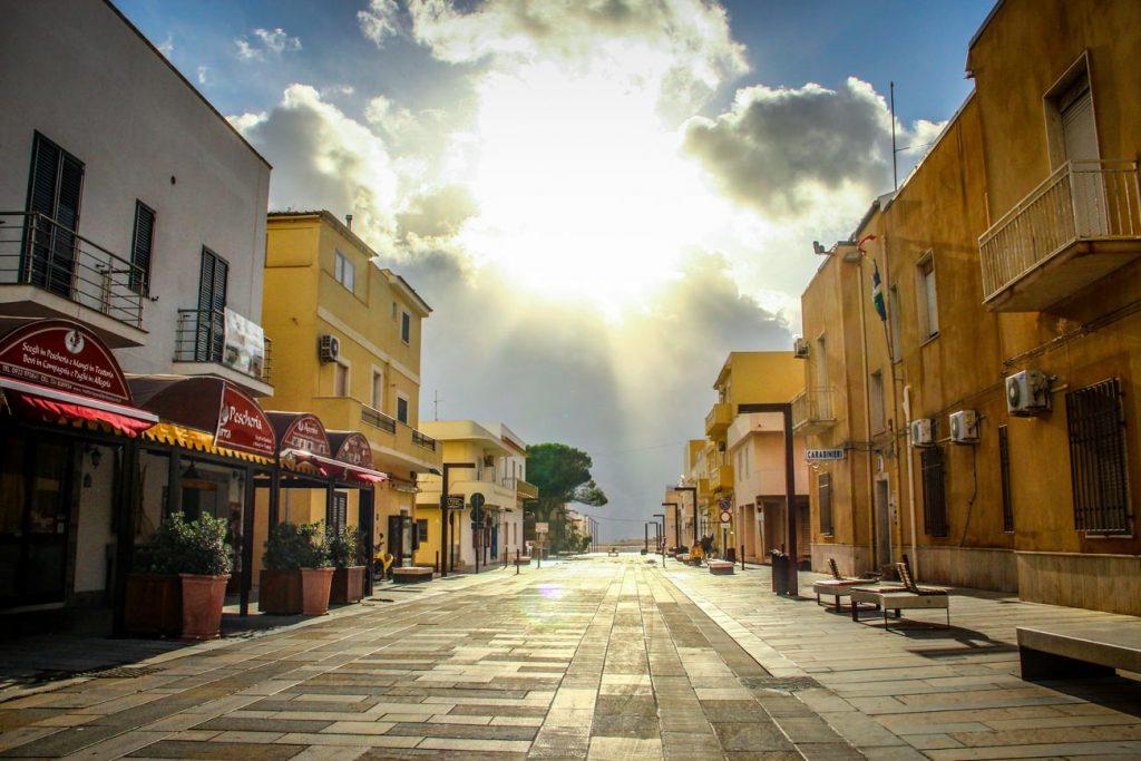 Via Roma a Lampedusa