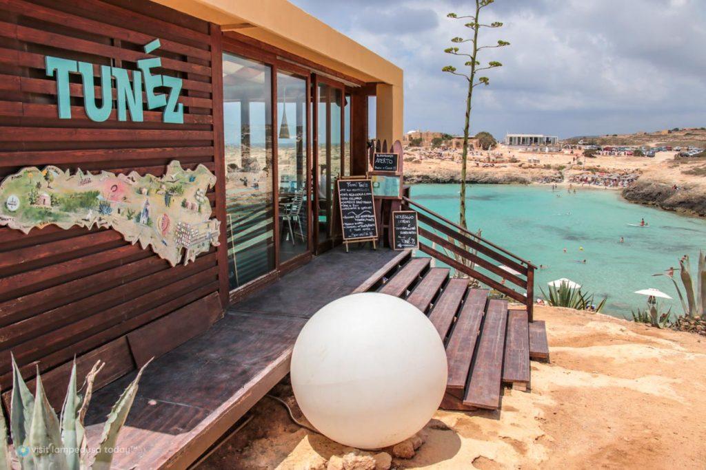 Tunéz Beach Bar a Lampedusa