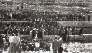 Commemorazioni nel cimitero di guerra di Lampedusa